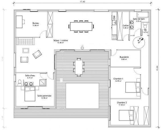 Maison En U Avec Patio Plan Maison En U Plan Maison Plans