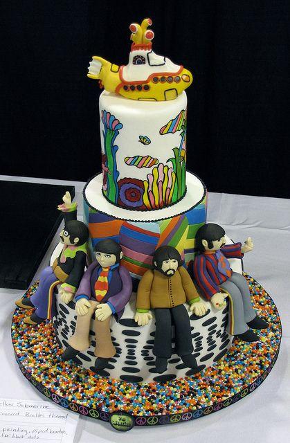 164 Best Beatles Cakes Images On Pinterest Beatles Cake