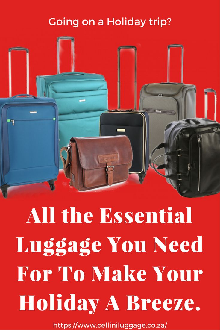 Essential Luggage for all you traveling needs.