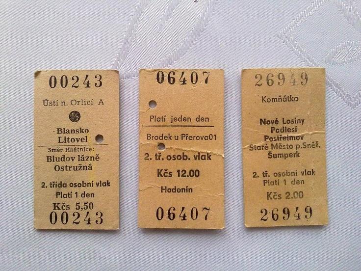 Cvak via Vzpomínky na socialismus - lístky na vlak