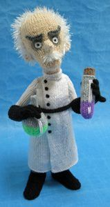 Mad Scientist knitted toy