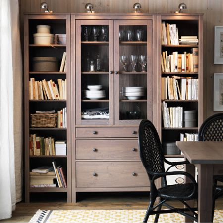 Could Maybe Replicate This By Adding Bookcases On Either Side Of The China  Cabinet. Ikea Living Room StorageIkea Dining ...