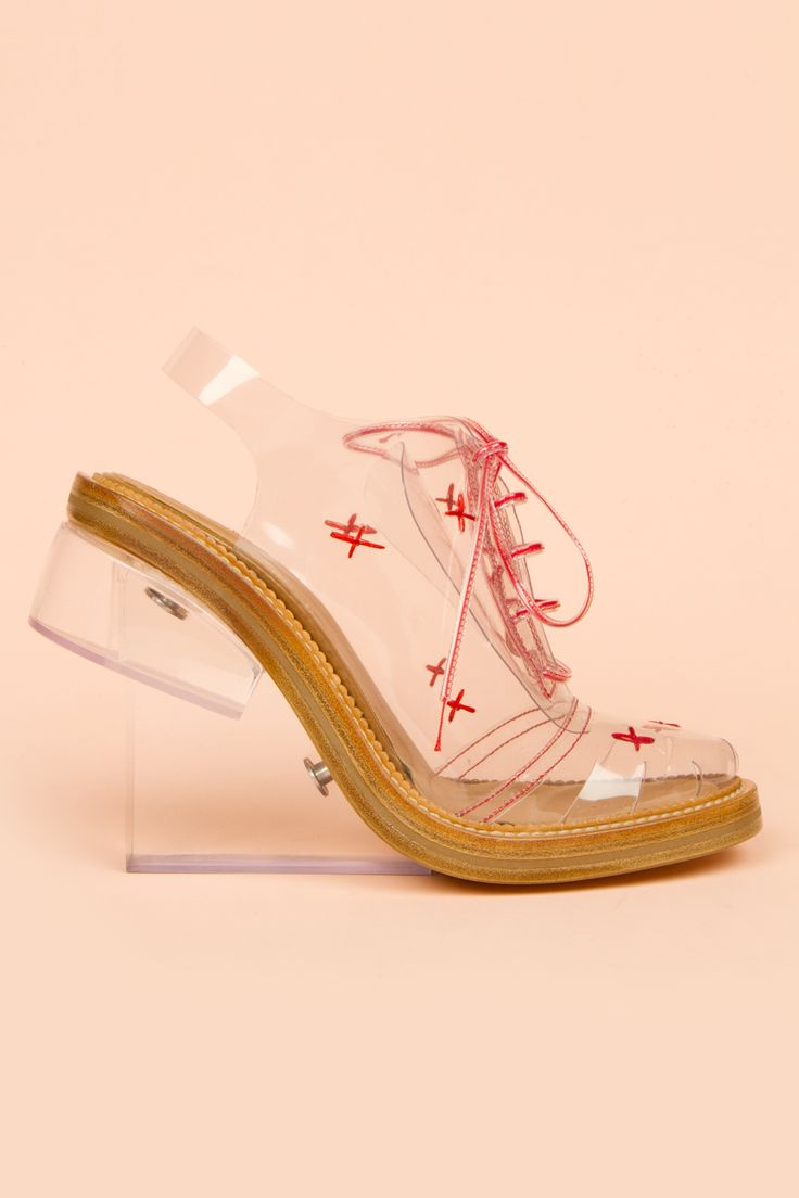 I DON'T GET IT BUT GET IIITTTTT.    Simone Rocha : high perspex brogues