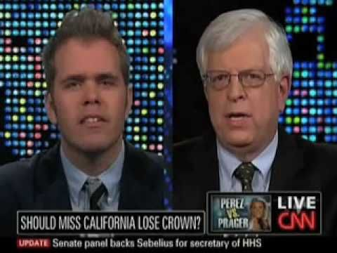 Dennis Prager Debates Perez Hilton On Same-Sex Marriage  Truth is still truth even if no believes it!  A lie is still a lie even if everyone believes it!   Abortion and Gay marriage is Wrong!