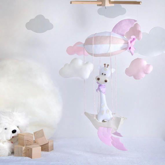 giostrina neonata /giostrina giraffa rosa/arredo