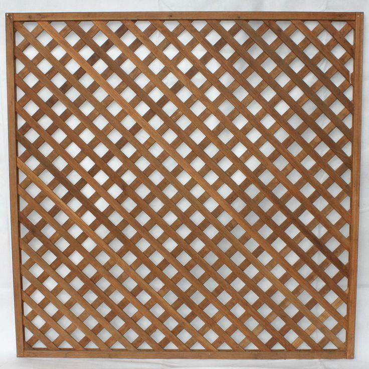 Rankzaun Rankgitter Dichtzaun aus Bangkirai Hartholz 180 x 180 cm