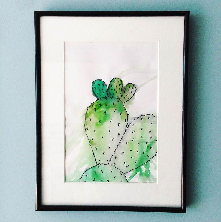 Watercolour cactus.