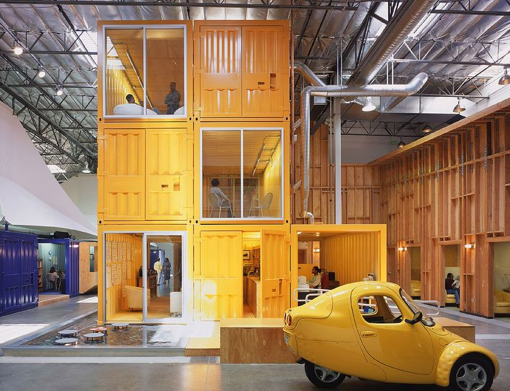 google office in usa head office pallotta teamworks los angeles usa clive wilkinson architects who had come up with other creative solutions for warehouse spaces conceived the idea to 108 best proxibid project images on pinterest design offices