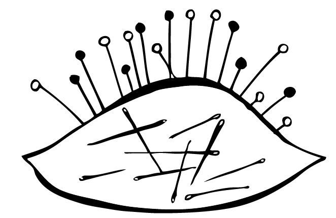05.02: Varrótű-zabáló gombostűpárna - 2 May: The pincushion ate all the sewing needles (found 32 inside)