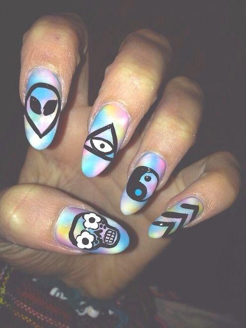nail art so crazy | via Tumblr