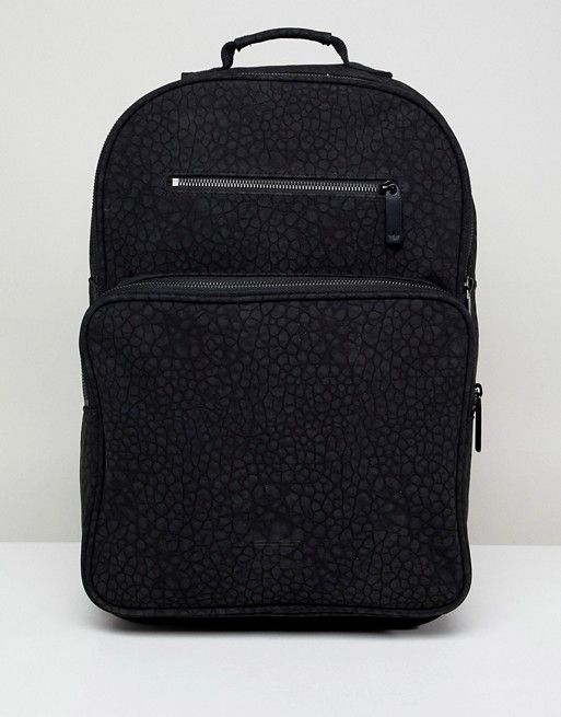 adidas Originals Textured Backpack In Black CE5628  07e5b7b183855