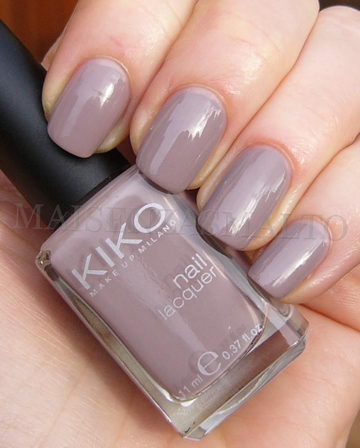 Have the same one, and I love it - Kiko - nail polish - 319 - Light Dove http://www.kikocosmetics.com/eshop/de/home
