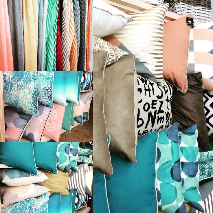 New spring colours. Cushions & Throws in store now. #blush #teal #mint #watermelon #grey #gold #throws #cushions #homewares #quinceyjac