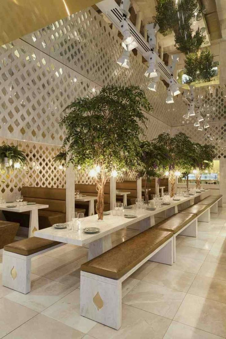 small restaurant design photos | small trees of elegant and luxury restaurant filled with plant
