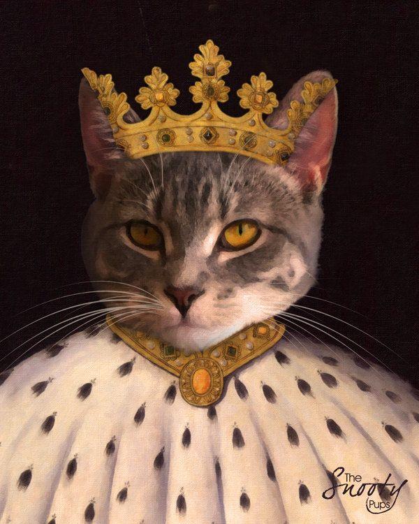 King PET PORTRAIT - Custom Cat Portrait, Custom Dog Portrait, by CustomPetPrints on Etsy