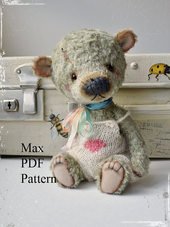 Etsy の PDF Teddy bear pattern 8 inches 20 cm  Max by MoscowBearKA