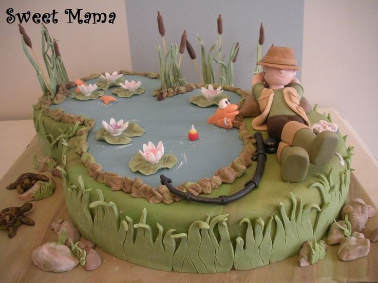 The lazy fisherman - by SweetMamaMilano @ CakesDecor.com - cake decorating website
