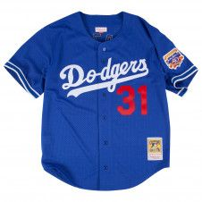 Mike Piazza 1997 Authentic Mesh BP Jersey Los Angeles Dodgers