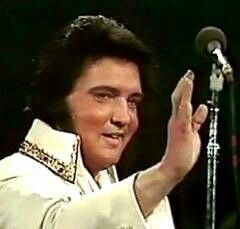 Elvis, 1977. This was Elvis' last concert. His health was failing and he waved…