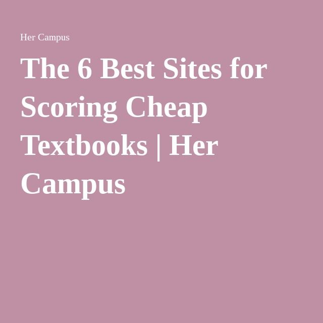 Best 25 cheap textbooks ideas on pinterest college books cheap the 6 best sites for scoring cheap textbooks fandeluxe Images
