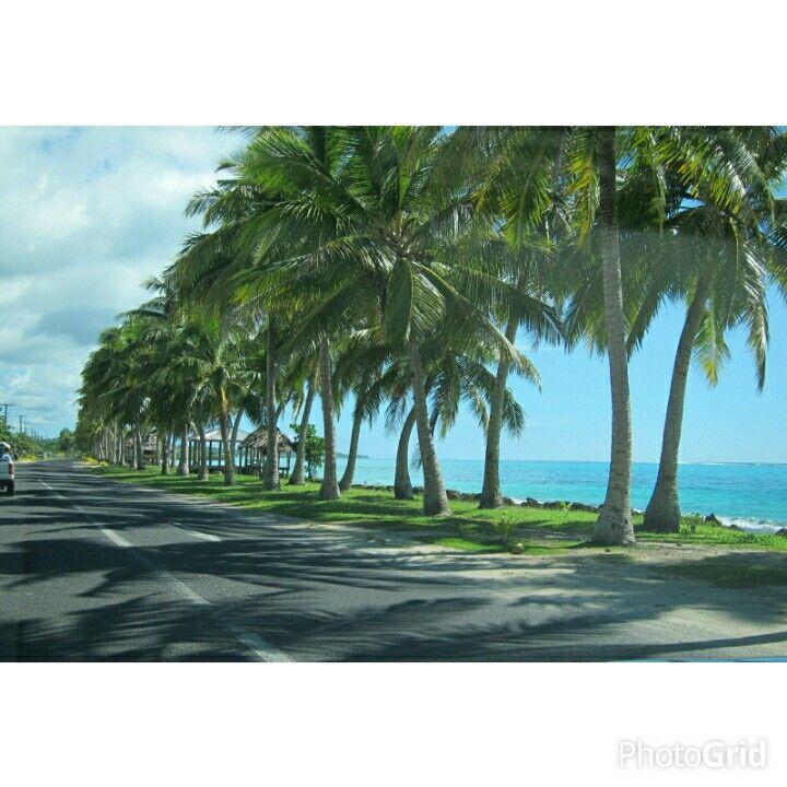 Coastal drive in Savaii