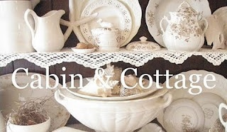 Cabin & Cottage blog: Favorite Blog, Cottages Blog, Cabins And Cottages, Cabin And Cottages, Cottages Vintage, Linens, Vintage China, White Dishes, Vintage Homes