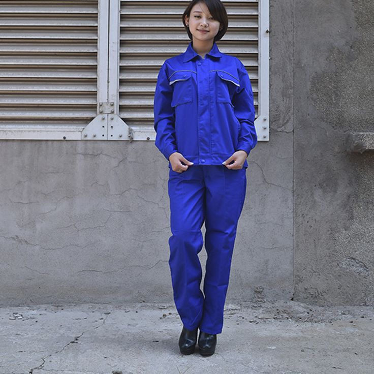 Neutral Work Clothing Long Sleeve Coveralls Worker Repairman Machine Repair Electric Welding Absenteeism Worker Clothes Set Y64