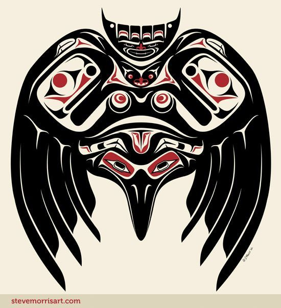 Raven.  Steve Morris. Would make a nice tribal tattoo
