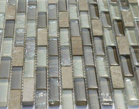 Stone backsplash kitchen tile glass mosaic tile backspalsh SGMT103 stone marble mosaic glass tile bathroom tiles mosaic $223.38