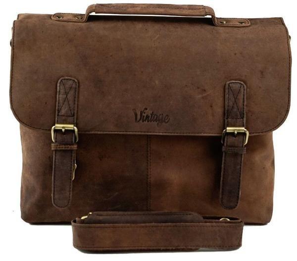 Vintage Sydney Leather Satchel Tobacco Brown - Vintage Leather