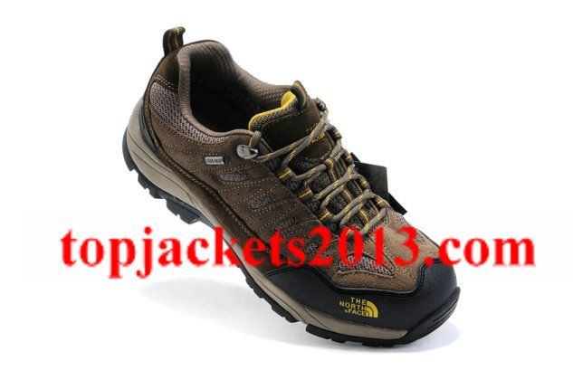 The North Face Outlet Mens Gore Tex Shoe Khaki Yellow