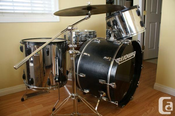 Ludwig Chrome Stainless Steel Drum Set Kit - (Penticton) for sale ...