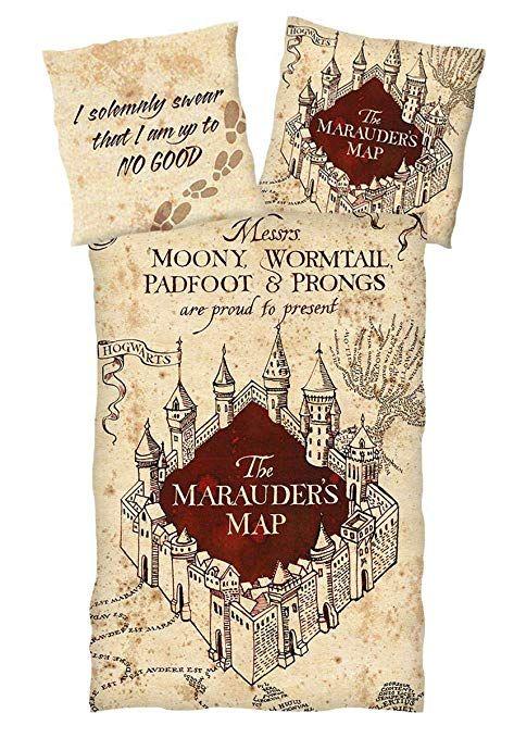 Harry Potter Bettwäsche Marauders Map Wendemotiv Single