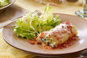 Spinach-Chorizo Lasagna Roll-Ups - used whole wheat lasagna.  Logan loved it!