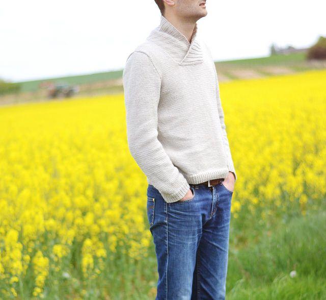 Modèle tricot pull homme Manu by Vidibio #tricot #knitting