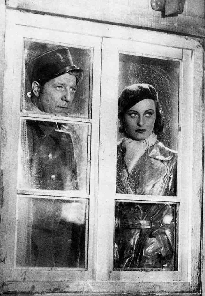 "Jean Gabin, Michele Morgan in ""Le quai des brumes (Port of Shadow)"" (1938)"