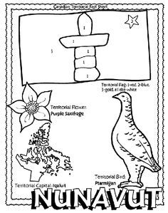 Canadian Territory - Nunavut coloring page Helpful for memory work with Claritas Classical Academy Cycle 3 Geography http://claritasclassicalacademy.com/Curriculum.html