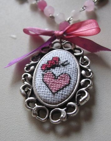 Cross stitch pendants...