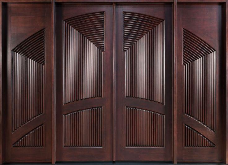Exterior exterior front door designs for a perfect outer for Double door wooden door