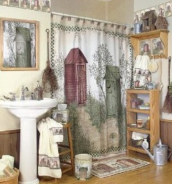 An Outhouse Bathroom Example Featuring Outhouse Shower