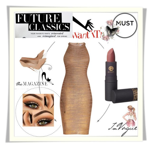 """""""work in progress"""" by dragut-dora-silvana on Polyvore featuring beauty, Hervé Léger, Lipstick Queen and Lipsy"""