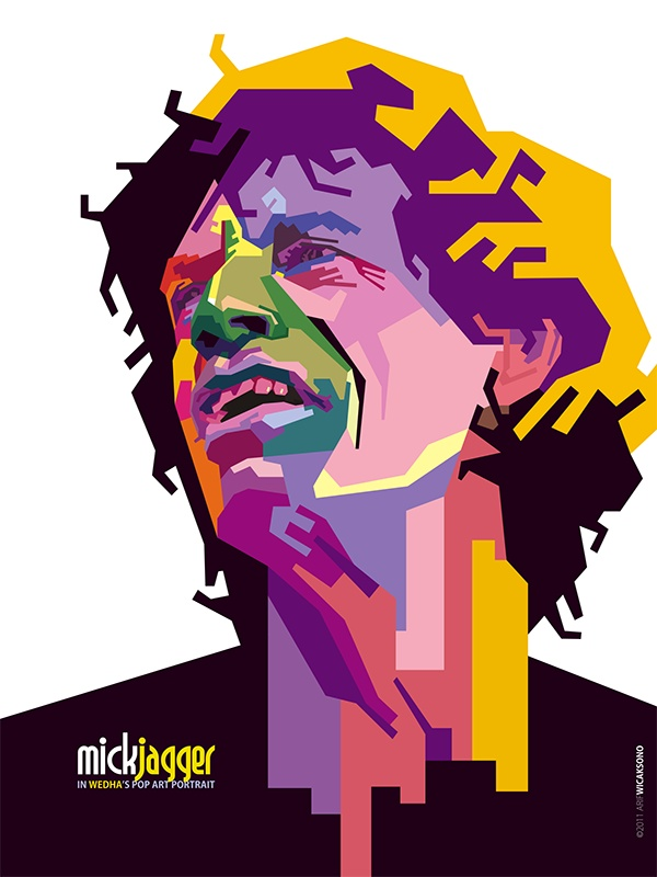 Mick Jagger in WPAP (what is this ?) love it !!