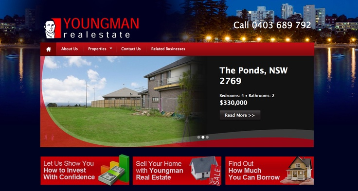 Any Real Estate would be proud of this web site to show case their property listings! http://YoungmanRealEstate.com.au