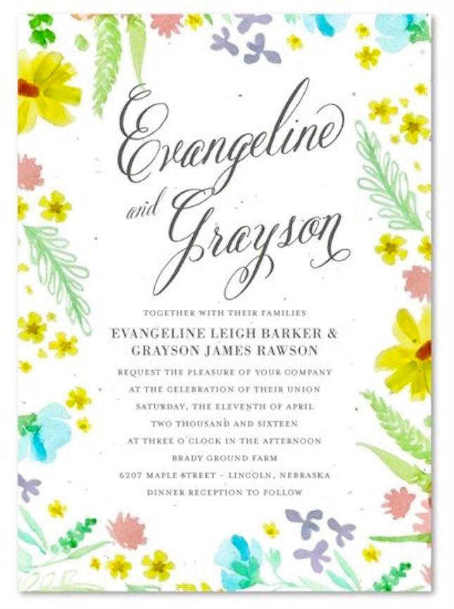 21 of the Most Creative Wedding Invitations Ever | in the picture wildflower plantable invitation