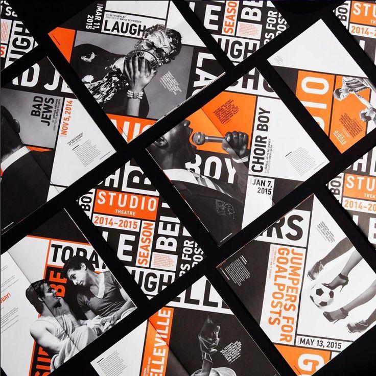 Studio Theater identity. Design by Design Army.