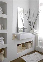 kast wastafel badkamer landelijk strak - Google zoeken