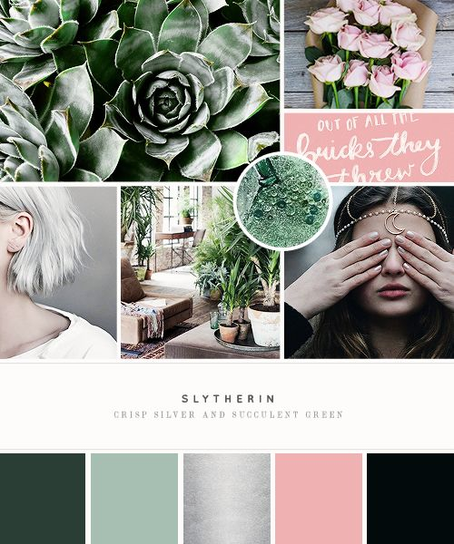 """ Slytherin + mood board * [Gryffindor] """