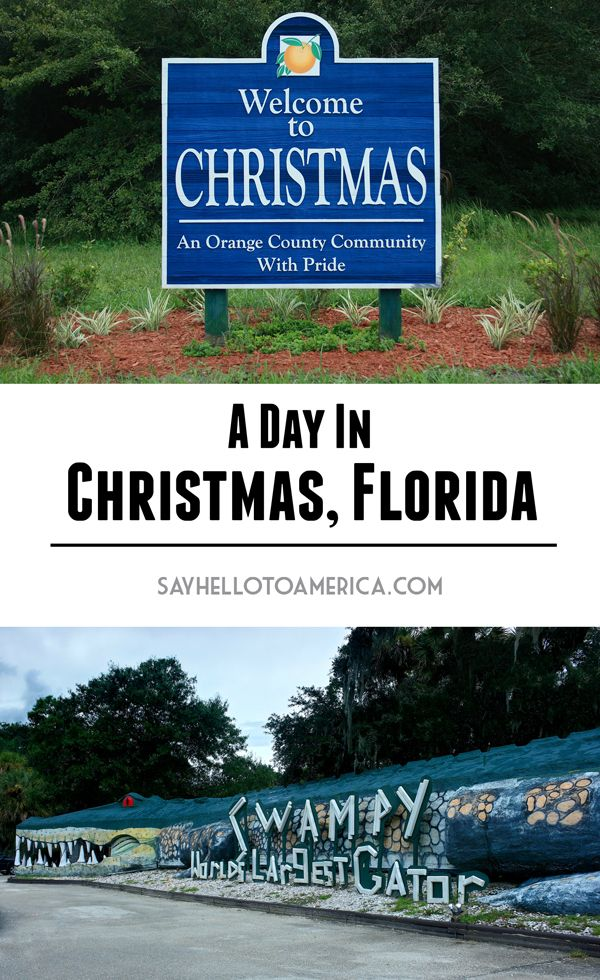 Attractions to see in the quirky town of Christmas, Florida. Click to read or pin for later!