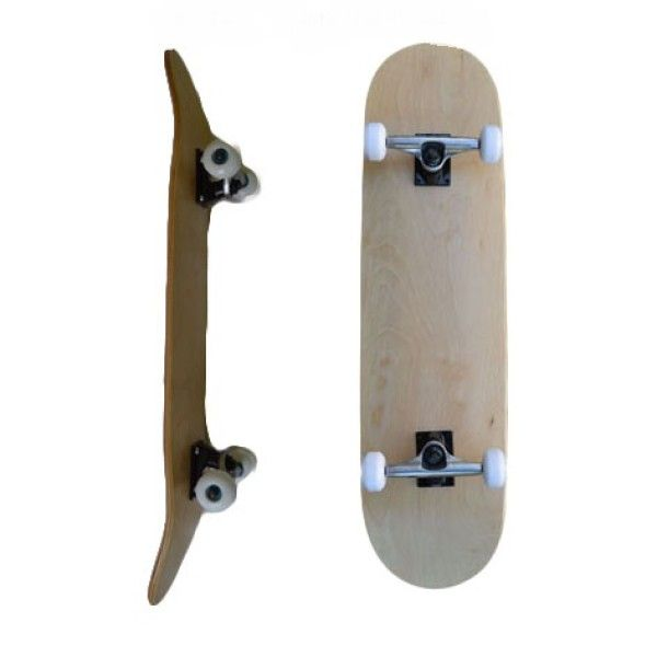 Easy People Complete Skateboards Blank Deck SB-2 Pro Natural
