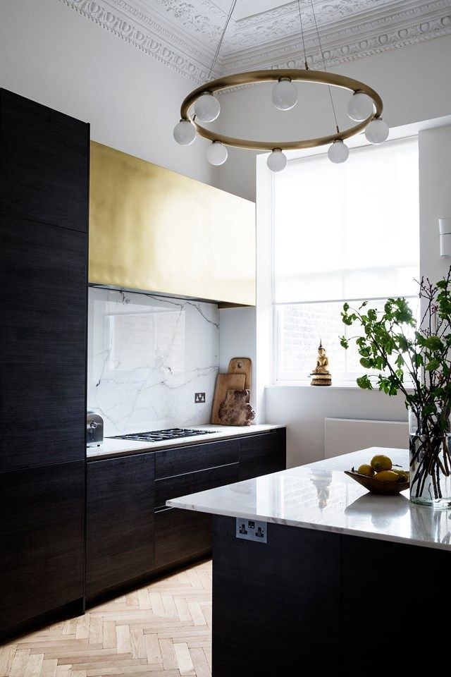 Line T Klein shoot of our home - for House & Gardens - smoked oak, brass, parquet, London  Victorian Maisonette Modern Neutral Interiors | Interior Design Ideas (houseandgarden.co.uk)
